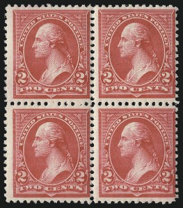 Sale Number 1096, Lot Number 442, 1894 Unwatermarked Bureau Issue (Scott 246-263)2c Carmine, Ty. II (251), 2c Carmine, Ty. II (251)