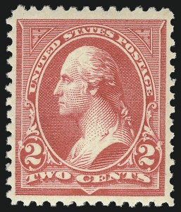 Sale Number 1096, Lot Number 444, 1894 Unwatermarked Bureau Issue (Scott 246-263)2c Carmine, Ty. III (252), 2c Carmine, Ty. III (252)
