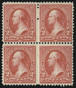 Sale Number 1096, Lot Number 445, 1894 Unwatermarked Bureau Issue (Scott 246-263)2c Carmine, Ty. III (252), 2c Carmine, Ty. III (252)