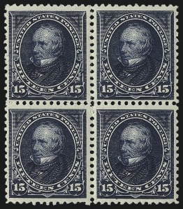 Sale Number 1096, Lot Number 455, 1894 Unwatermarked Bureau Issue (Scott 246-263)15c Dark Blue (259), 15c Dark Blue (259)
