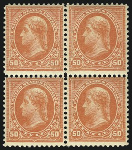 Sale Number 1096, Lot Number 457, 1894 Unwatermarked Bureau Issue (Scott 246-263)50c Orange (260), 50c Orange (260)