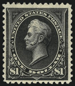 Sale Number 1096, Lot Number 458, 1894 Unwatermarked Bureau Issue (Scott 246-263)$1.00 Black (261), $1.00 Black (261)