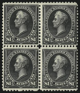 Sale Number 1096, Lot Number 461, 1894 Unwatermarked Bureau Issue (Scott 246-263)$1.00 Black, Ty. I, II (261-261A), $1.00 Black, Ty. I, II (261-261A)