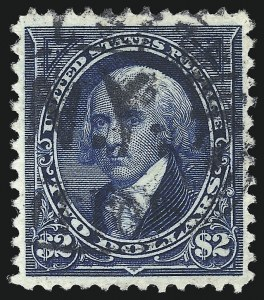 Sale Number 1096, Lot Number 465, 1894 Unwatermarked Bureau Issue (Scott 246-263)$2.00 Bright Blue (262), $2.00 Bright Blue (262)