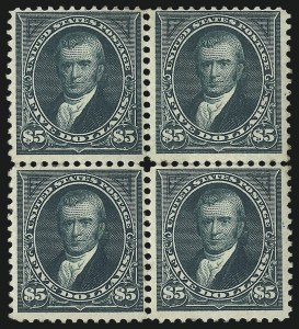 Sale Number 1096, Lot Number 468, 1894 Unwatermarked Bureau Issue (Scott 246-263)$5.00 Dark Green (263), $5.00 Dark Green (263)