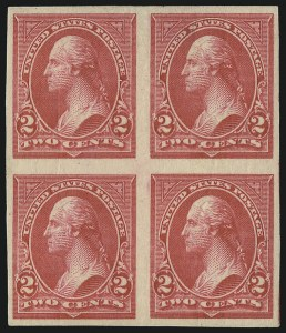 Sale Number 1096, Lot Number 473, 1895-98 Watermarked Bureau Issues (Scott 264-284)2c Carmine, Ty. III, Imperforate (267a), 2c Carmine, Ty. III, Imperforate (267a)