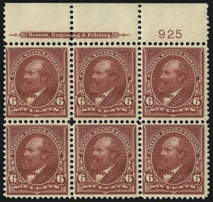 Sale Number 1096, Lot Number 494, 1895-98 Watermarked Bureau Issues (Scott 264-284)6c Lake (282), 6c Lake (282)