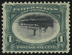 Sale Number 1096, Lot Number 530, 1901 Pan-American Issue Inverts (Scott 294a-296a)1c Pan-American, Center Inverted (294a), 1c Pan-American, Center Inverted (294a)