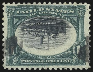 Sale Number 1096, Lot Number 531, 1901 Pan-American Issue Inverts (Scott 294a-296a)1c Pan-American, Center Inverted (294a), 1c Pan-American, Center Inverted (294a)