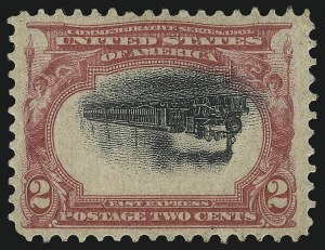 Sale Number 1096, Lot Number 532, 1901 Pan-American Issue Inverts (Scott 294a-296a)2c Pan-American, Center Inverted (295a), 2c Pan-American, Center Inverted (295a)