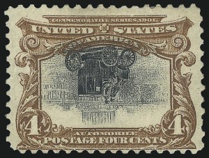 Sale Number 1096, Lot Number 533, 1901 Pan-American Issue Inverts (Scott 294a-296a)4c Pan-American, Center Inverted (296a), 4c Pan-American, Center Inverted (296a)