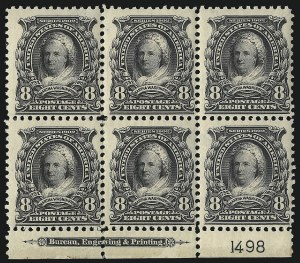 Sale Number 1096, Lot Number 538, 1902-08 Issues (Scott 300-313)1c-$2.00 1902-03 Issue (300-306, 308), 1c-$2.00 1902-03 Issue (300-306, 308)