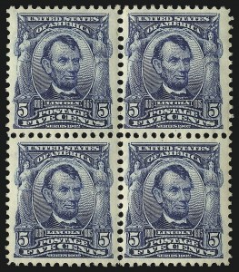 Sale Number 1096, Lot Number 540, 1902-08 Issues (Scott 300-313)5c Blue (304), 5c Blue (304)