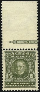 Sale Number 1096, Lot Number 541, 1902-08 Issues (Scott 300-313)15c Olive Green (309), 15c Olive Green (309)