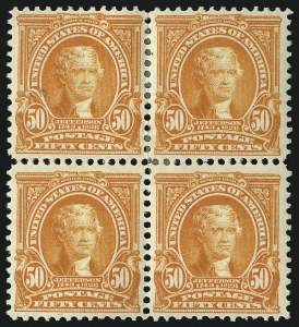Sale Number 1096, Lot Number 542, 1902-08 Issues (Scott 300-313)50c Orange (310), 50c Orange (310)