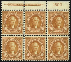 Sale Number 1096, Lot Number 543, 1902-08 Issues (Scott 300-313)50c Orange (310), 50c Orange (310)