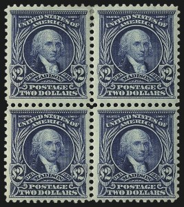 Sale Number 1096, Lot Number 546, 1902-08 Issues (Scott 300-313)$2.00 Dark Blue (312), $2.00 Dark Blue (312)