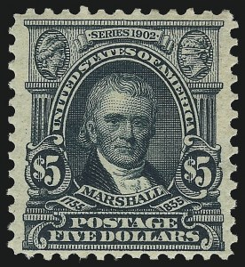 Sale Number 1096, Lot Number 548, 1902-08 Issues (Scott 300-313)$5.00 Dark Green (313), $5.00 Dark Green (313)