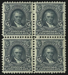 Sale Number 1096, Lot Number 549, 1902-08 Issues (Scott 300-313)$5.00 Dark Green (313), $5.00 Dark Green (313)