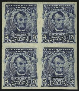 Sale Number 1096, Lot Number 555, 1906-08 Issue Imperforates and Coils (Scott 314A-322)5c Blue, Imperforate (315), 5c Blue, Imperforate (315)