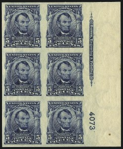 Sale Number 1096, Lot Number 556, 1906-08 Issue Imperforates and Coils (Scott 314A-322)5c Blue, Imperforate (315), 5c Blue, Imperforate (315)
