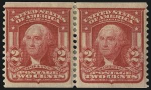 Sale Number 1096, Lot Number 560, 1906-08 Issue Imperforates and Coils (Scott 314A-322)2c Carmine, Coil (322), 2c Carmine, Coil (322)