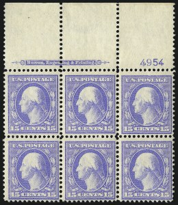 Sale Number 1096, Lot Number 572, 1908-10 Washington-Franklin Issues (Scott 331-356)15c Pale Ultramarine (340), 15c Pale Ultramarine (340)