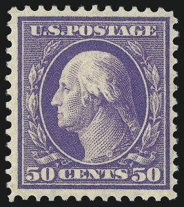 Sale Number 1096, Lot Number 573, 1908-10 Washington-Franklin Issues (Scott 331-356)50c Violet (341), 50c Violet (341)