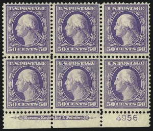 Sale Number 1096, Lot Number 575, 1908-10 Washington-Franklin Issues (Scott 331-356)50c Violet (341), 50c Violet (341)