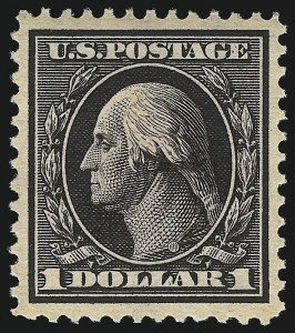 Sale Number 1096, Lot Number 576, 1908-10 Washington-Franklin Issues (Scott 331-356)$1.00 Violet Brown (342), $1.00 Violet Brown (342)