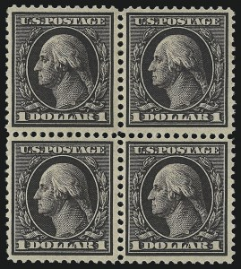 Sale Number 1096, Lot Number 577, 1908-10 Washington-Franklin Issues (Scott 331-356)$1.00 Violet Brown (342), $1.00 Violet Brown (342)