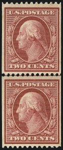 Sale Number 1096, Lot Number 579, 1908-10 Washington-Franklin Issues (Scott 331-356)2c Carmine, Coil (349), 2c Carmine, Coil (349)