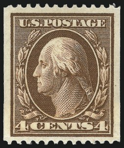 Sale Number 1096, Lot Number 581, 1908-10 Washington-Franklin Issues (Scott 331-356)4c Orange Brown, Coil (350), 4c Orange Brown, Coil (350)