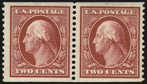Sale Number 1096, Lot Number 587, 1908-10 Washington-Franklin Issues (Scott 331-356)2c Carmine, Coil (353), 2c Carmine, Coil (353)