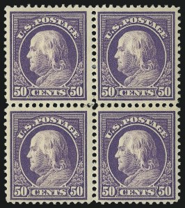 Sale Number 1096, Lot Number 669, 1912-14 Washington-Franklin Issue (Scott 405-423D)50c Violet (421), 50c Violet (421)