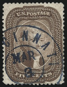 Sale Number 1096, Lot Number 67, 5c-10c 1857-60 Issue (Scott 27-35)5c Brown (29), 5c Brown (29)