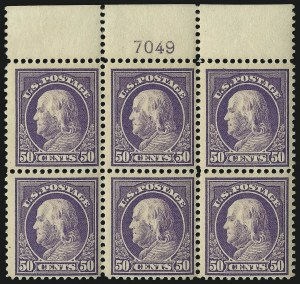 Sale Number 1096, Lot Number 670, 1912-14 Washington-Franklin Issue (Scott 405-423D)50c Violet (421), 50c Violet (421)
