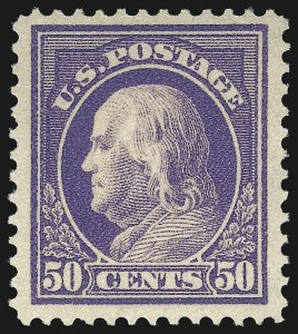 Sale Number 1096, Lot Number 671, 1912-14 Washington-Franklin Issue (Scott 405-423D)50c Violet (422), 50c Violet (422)