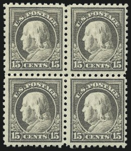 Sale Number 1096, Lot Number 677, 1913-15 Washington-Franklin Issues (Scott 424-461)1c-15c 1913-15 Issue (424-437), 1c-15c 1913-15 Issue (424-437)