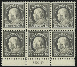Sale Number 1096, Lot Number 680, 1913-15 Washington-Franklin Issues (Scott 424-461)15c Gray (437), 15c Gray (437)