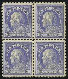 Sale Number 1096, Lot Number 681, 1913-15 Washington-Franklin Issues (Scott 424-461)20c Ultramarine (438), 20c Ultramarine (438)