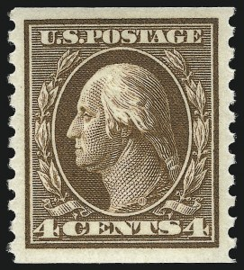 Sale Number 1096, Lot Number 694, 1913-15 Washington-Franklin Issues (Scott 424-461)4c Brown, Coil (446), 4c Brown, Coil (446)