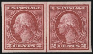 Sale Number 1096, Lot Number 702, 1913-15 Washington-Franklin Issues (Scott 424-461)2c Carmine, Ty. I, Imperforate Coil (459), 2c Carmine, Ty. I, Imperforate Coil (459)