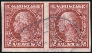 Sale Number 1096, Lot Number 703, 1913-15 Washington-Franklin Issues (Scott 424-461)2c Carmine, Ty. I, Imperforate Coil (459), 2c Carmine, Ty. I, Imperforate Coil (459)