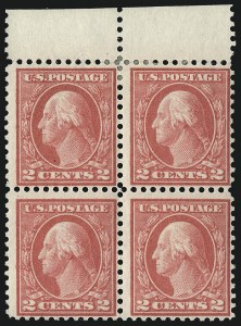 Sale Number 1096, Lot Number 707, 1913-15 Washington-Franklin Issues (Scott 424-461)2c Pale Carmine Red, Ty. I (461), 2c Pale Carmine Red, Ty. I (461)