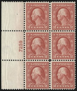 Sale Number 1096, Lot Number 708, 1913-15 Washington-Franklin Issues (Scott 424-461)2c Pale Carmine Red, Ty. I (461), 2c Pale Carmine Red, Ty. I (461)