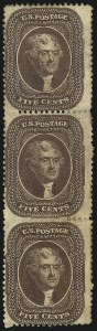 Sale Number 1096, Lot Number 72, 5c-10c 1857-60 Issue (Scott 27-35)5c Brown, Ty. II (30A), 5c Brown, Ty. II (30A)