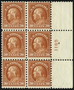 Sale Number 1096, Lot Number 725, 1916-17 Issues (Scott 462-491)30c Orange Red, Perf 10 (476A), 30c Orange Red, Perf 10 (476A)