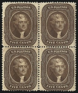 Sale Number 1096, Lot Number 73, 5c-10c 1857-60 Issue (Scott 27-35)5c Brown, Ty. II (30A), 5c Brown, Ty. II (30A)