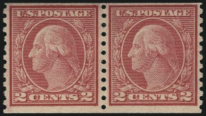 Sale Number 1096, Lot Number 738, 1916-17 Issues (Scott 462-491)2c Carmine, Ty. II, Coil (491), 2c Carmine, Ty. II, Coil (491)